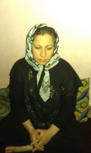 Farida from Afghanistan living in a tiny flat in Athens
