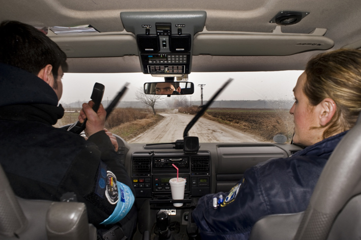 The EU's border police Frontex at work on patrol.