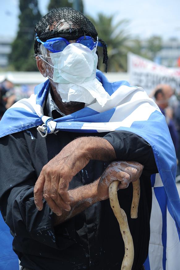 Greek protestor