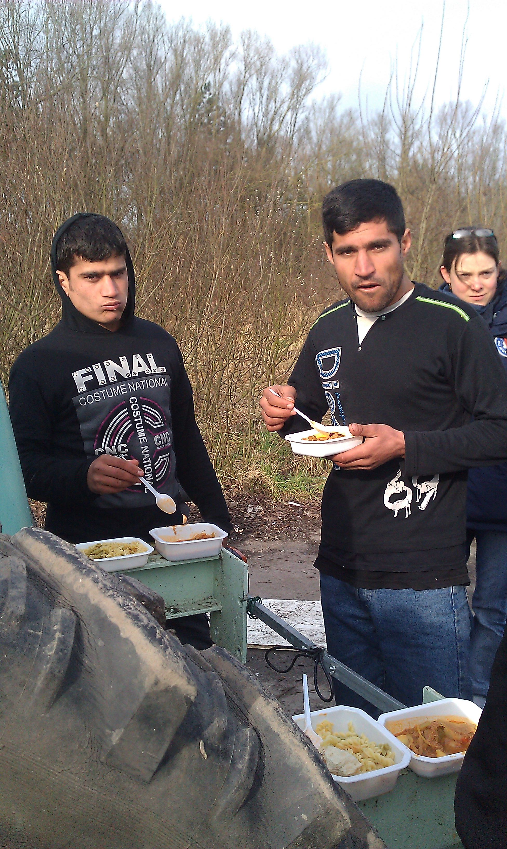 young Afghans in Dunkirk in France